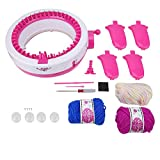 Round Knitting Looms Kit, DIY Sewing Toy Set Mini Knitting Machine Weaving Educational Children Toys for Hat Scarves Sweater
