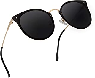 GAOYE Classic Polarized Sunglasses for Women Men,Metal Vintage Retro Cat Eyes Lightweight Frame UV400 Mirror Lens GY1782