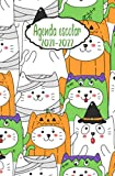 2021-2022 Agenda escolar: agenda día página gato- planificador escolares para estudiantes 2021-2022 , diaria y mensual ,...