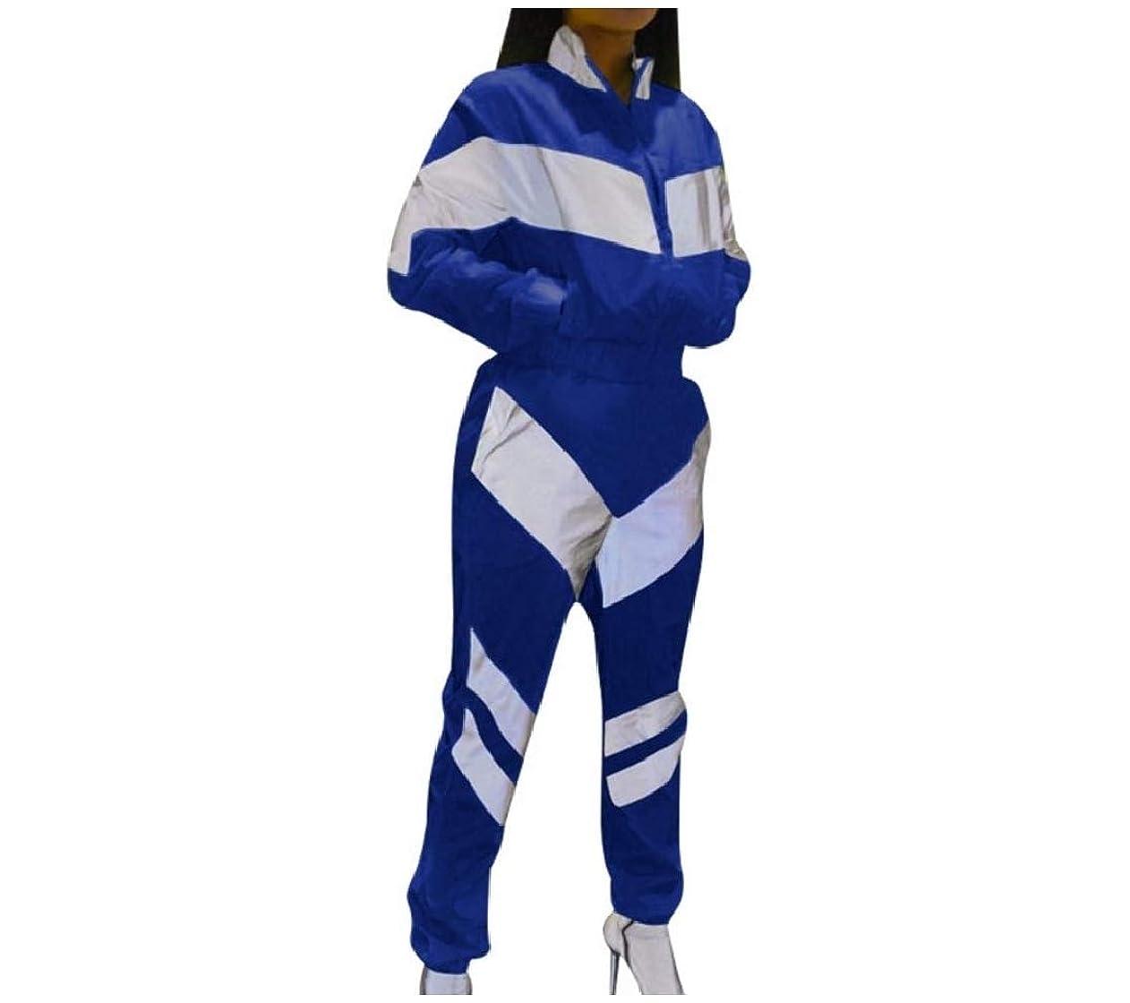 フォークトリクルパールGodeyesW 女性のルーズフィット2ピーストレーニングステッチスポーツウェアトラックスーツ