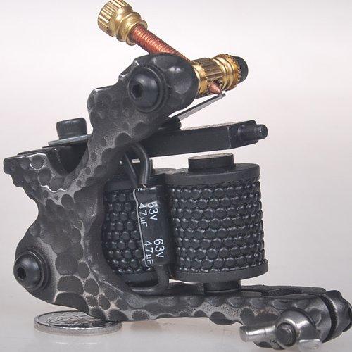 1TattooWorld Handmade Cast Iron Tattoo Machine Liner Shader Gun, OTW-M701