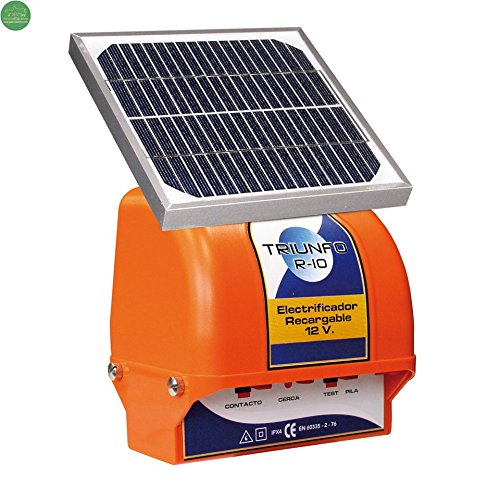 Berger triomphe R-10 avec Panneau solaire 3 W et batterie 12 V. Pour Chiens Et Chats