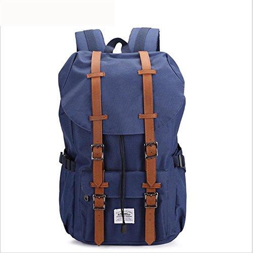 beibao shop Backpack -Sac à Dos Vintage décontracté Nylon Ordinateur Portable Backpack Shopping de Fin de Semaine/Travel/School Daypack, Blue
