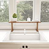 Lavish Home Bamboo Sink Shelf-Countertop Organizer for Kitchen, Bathroom, Bedroom, Office-Space Saving Storage for Soap, Sponges, Cleaners, Brown