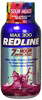 VPX Redline Power Rush 7-Hour Energy Max 300 Supplement Sour Heads 2.5 Ounce  Pack of 12