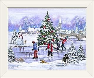 CANVAS ON DEMAND Skaters White Framed Art Print, 17
