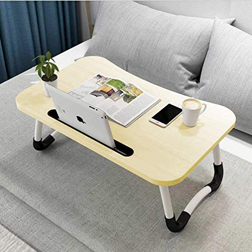 Hossejoy Foldable Laptop Table, Portable Standing Bed Desk, Breakfast Serving Bed Tray, Notebook Computer Stand Reading Holder for Couch Floor