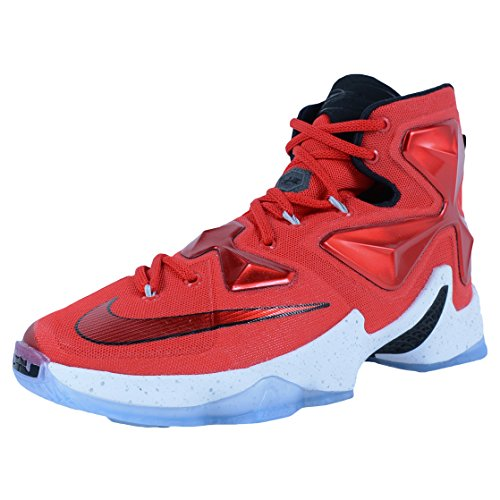 Nike Men's  Lebron XIII Unvrsty Red/White/Blk/Lsr Orng Basketball Shoe - 10.5 D(M) US