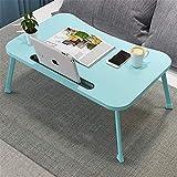 Lap Desk Portátil portátil Lap Desk Portátil plegable para cama, sofá, bandeja para servir desayuno Lectura desayuno Mirar películas (Color: Azul b, tamaño