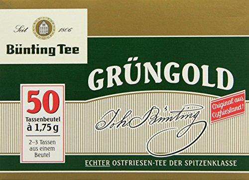 Bünting Tee Grüngold Echter Ostfriesentee 50 x 1.75 g Beutel, 10er Pack (10 x 88 g)