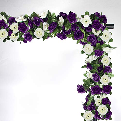 NORTHERN BROTHERS Fake Flowers Fake Rose Artificial Flower Garlands For Garden Outdoor 6 Pcs