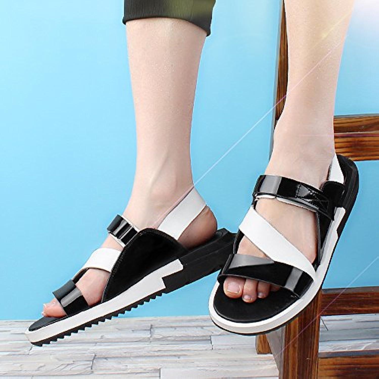 Summer air permeable leather sandals, junior men's beach shoes, casual shoes, sandals