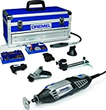 Dremel 4000 Rotary Tool 175 W, Rotary Multi Tool Kit with 6 Attachments 128 Accessories Variable Speed 5000-35000 RPM for Cutting, Carving, Sanding, Drilling, Polishing, Routing, Sharpening, Grinding