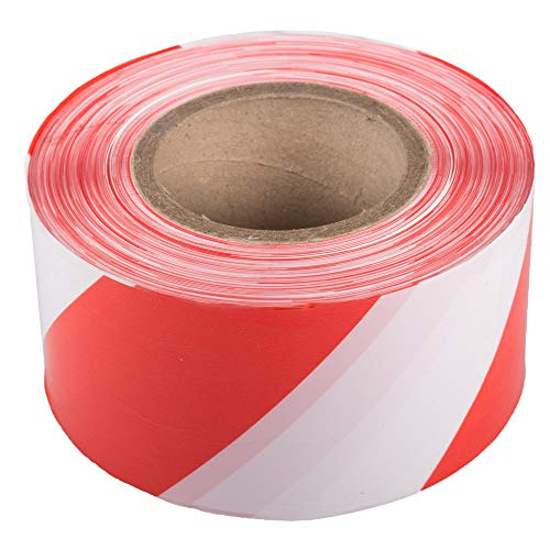 BB-Verpackungen 1 x Absperrband 75 mm x 500 m (rot/weiß, sehr reißfest, beidseitig geblockt) - Sets zwischen 1 und 72 Rollen