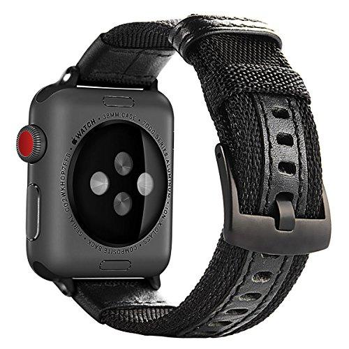 Banda de Apple Watch, iWatch Correa de Nailon maxjoy Reemplazo Bandas con Cierre de Metal Inoxidable para Apple Reloj Serie 3Serie 2Serie 1Deporte y edición
