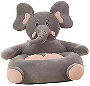 MJTP Children s Armchair Grey Elephant Seat Sofa Chair Baby Snuggle Sofa Plush Toy Bedroom Playroom
