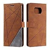 Hülle für Xiaomi Poco X3 NFC, SONWO Premium Leder PU Handyhülle Flip Hülle Wallet Silikon Bumper Schutzhülle Klapphülle für Xiaomi Poco X3 NFC, Braun