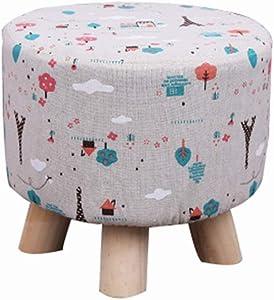 Zcxbhd Kreativer Sofa-Fußhocker Aus Osmanen Massivholz Schuhbank Geeignet Für Erwachsene/Kinder Last 150kg (Farbe : Tower Tree)