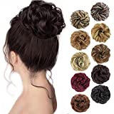 MORICA 1PCS Messy Hair Bun Hair Scrunchies Extension Curly Wavy Messy Synthetic Chignon