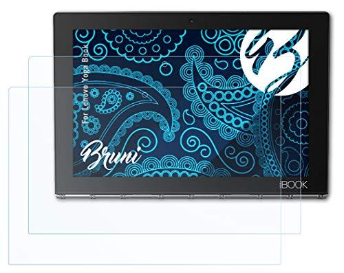 Bruni Schutzfolie kompatibel mit Lenovo Yoga Book Folie, glasklare Bildschirmschutzfolie (2X)