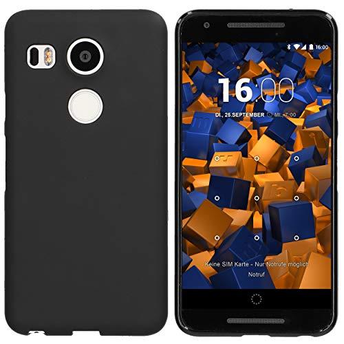 mumbi 12385 Schutzhülle (TPU Silikon Hülle, enormer Grip, schutz vor Staub, Dreck & Wasser geeignet für LG Google Nexus 5X) schwarz