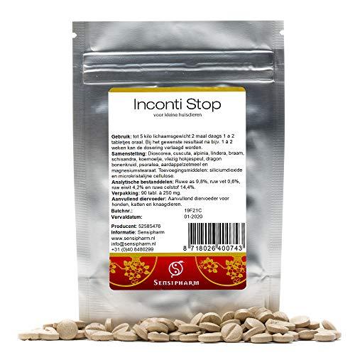 Sensipharm Inconti Stop für Katzen, Hunde, Meerschweinchen, Kaninchen 90 Tabletten - Hilft Natürlich bei Inkontinenz (Blasenschwäche)