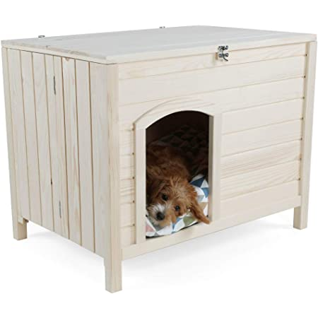 Petsfit 31 Lx20 Wx20 H Indoor Wooden Pet House With Wire Door Pet Supplies