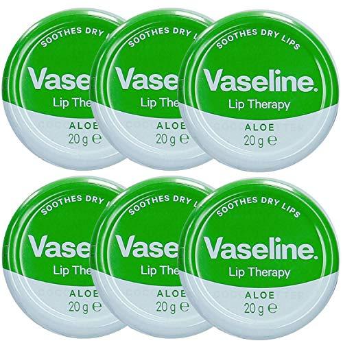 Vaseline Lip Balm 20g/0.705oz (6X20g/0.705oz, Aloe Vera)
