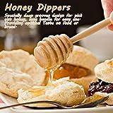 50 Pcs/Satz Haushalt Holz Tragbare Mini Marmelade Honig Dipper Jar Dispensing Sammeln Rührstab Stick Mino Dispense Drizzle Honig(8CM) - 3