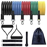 bANDS Batilo - Resistance Set (11 Piece Set) 10-100 LBS - Resistance Exercise Set for Home and Outdoors Yoga Pilates Abs Fitness Workouts