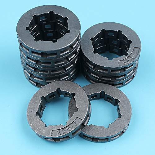 Haoyueda 10 x 0.325 7T aro de rueda motriz Compatible con Stihl 017 018 024 026 MS260 MS261 039 034 036 MS250 MS260 MS290 MS390 MS310 MS270 MS280 motosierra