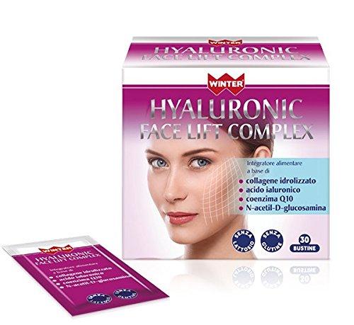 Winter Hyaluronic face lift complex ringiovanisce la pelle 30 bustine