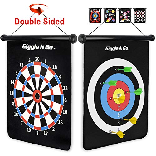 Big Save! GIGGLE N GO Reversible Rollup Dart Game - Great Kids Game for Indoors and Outdoors. Game
