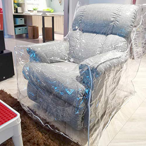 Pakoula Plastic Couch Cover Pets | Cat Scratching Protector Clear Waterproof Armchair/Recliner Cover,Furniture Protector for Storage and Moving 36