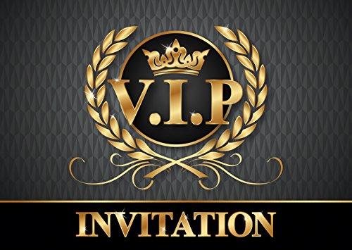 VIP Invitations en Français: Paquet de 10 Cartes d'Invitation V.I.P. pour Un Prochain Anniversaire d'Enfant / fête / Party des Editon Colibri (10718 FR)