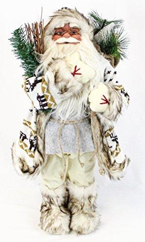 Unbekannt Weihnachtsmann Weihnachtsmänner Figur ca. 60cm Deko Nikolaus Santa Claus| 6 Verschiedene Modelle zur Auswahl (Fredo)