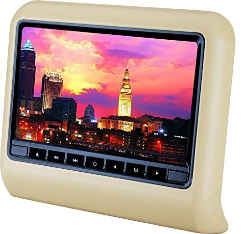 CPDZ Auto Kopfstützen Display 9-Zoll tragbarer DVD-Player Digitaler Touchscreen Multimedia-System Auto Monitor 9 Zoll MP5 HD,Beige