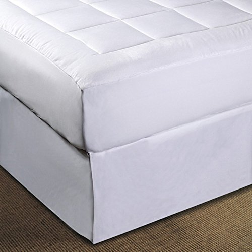 Mattress-Pad. Best Comfort, Soft Polyester Microfiber, Machine Washable Topper Pillow for Deep Healthy Sleep. Comfy Durable Protection Cover Protects Bed from Stains, Dirt, Dust & Wetness. (Cal King)