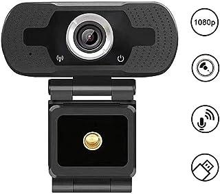 Lankerx Full 1080p HD Webcam con micrófono USB Web Cam Plug & Play para transmisión en vivo, videoconferencias