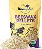 HUNNYBEE Organic White Beeswax Pellets -...