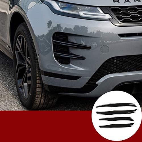 YIWANG ABS Chrom glänzend Schwarz Auto Nebelscheinwerfer Streifen Trim Aufkleber Aufkleber 4 Stück für RangeRover Evoque 2019 2020 Auto Zubehör