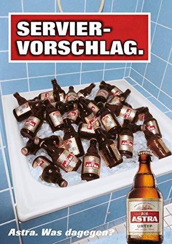 ASTRA Bier Werbung/Reklame Plakat DIN A1 59,4 x 84,1cm Serviervorschlag, kultiges Poster aus St. Pauli