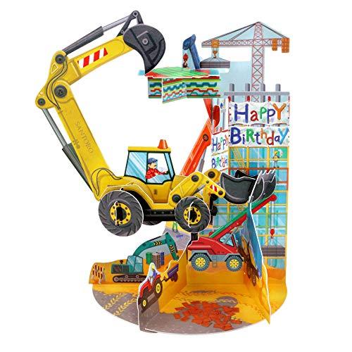 Digger Pendulum - Santoro 3D Pop-Up Gretting and Birthday Card for Kids