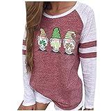 MEITING Lange Ärmel Pullover Damen Winter Pullover mit Rundhals Damen Sweatshirt Langarmshirt St....