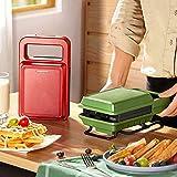 LIANGANAN Mini máquina de gofres Máquina de Hierro Máquina para el hogar Máquina de Muffin No Stick Tostador eléctrico, fácil de Limpiar, Rojo zhuang94 (Color : A1)