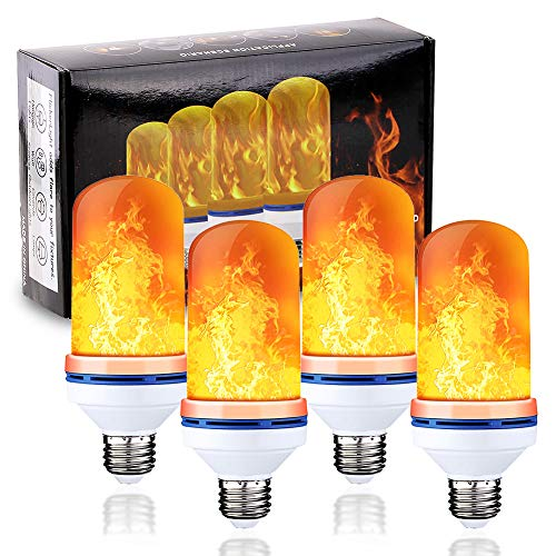 LED Flame Light Bulb 4 Modes Flickering Fire Effect Light E26 Base for Holiday,Home, Party, Restaurant, Outdoor Decoration