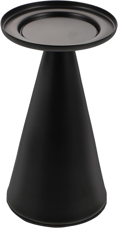 VOSAREA Black Iron Candle Pillar Daily bargain sale Indefinitely Holder Tape Metal
