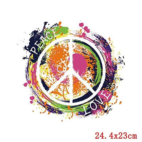 Transferencia térmica de hierro en parche,Pegatinas de Transferencia de Calor,Aplicar a camisetas, chaquetas, jeans, chaquetas, mochilas, graffiti de color redondo