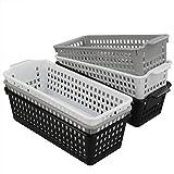 Cadine Cestas de Almacenamiento de Plástico, 6 Unidades Cestas Plastico