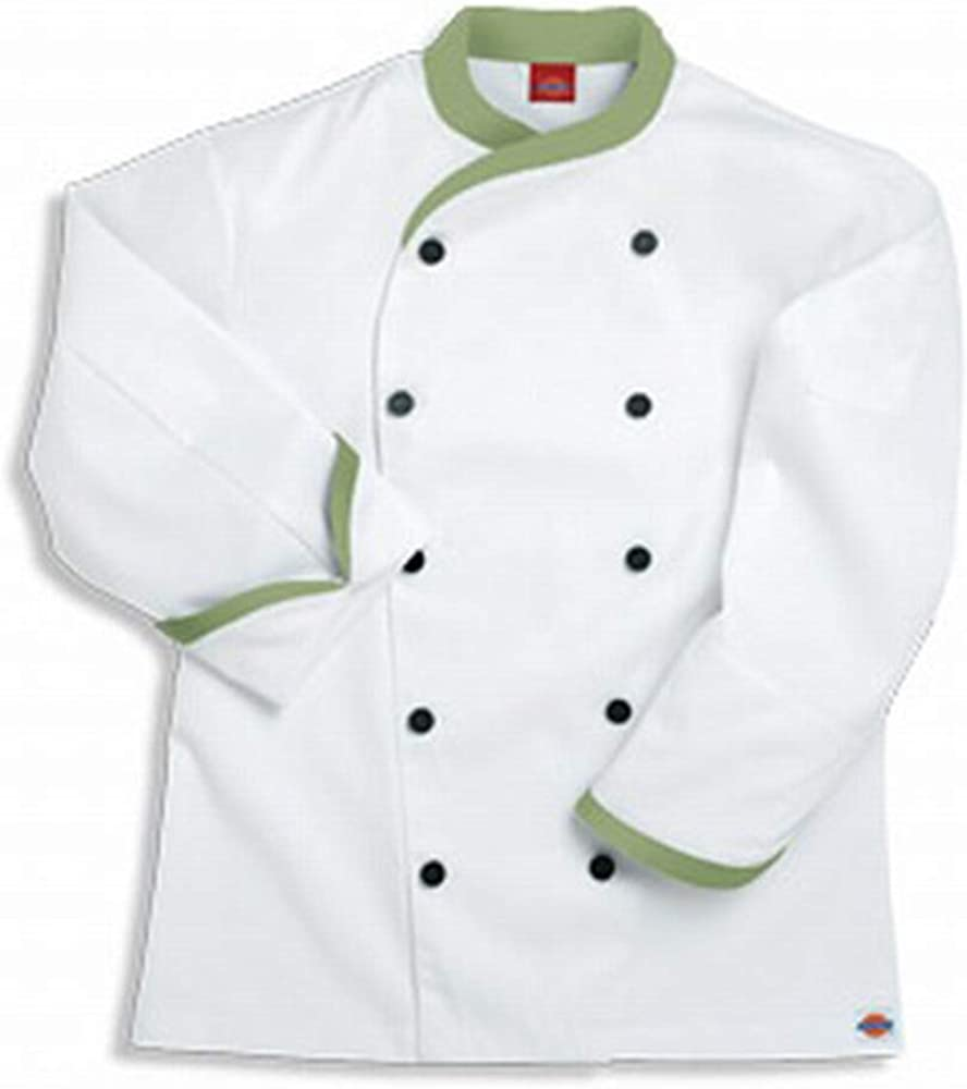 Dickies Chef Coat Contrast Trim Jacket: Clothing, Shoes & Jewelry